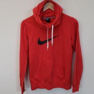 Nike Hoodie Pullover Red/Orange Women's Medium